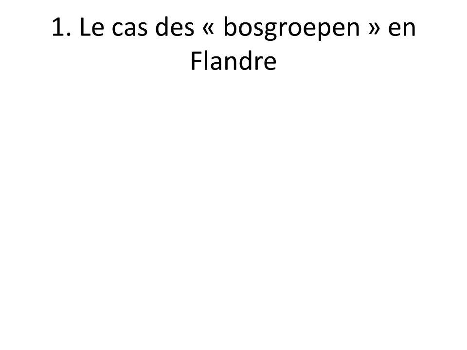 1. Le cas des « bosgroepen » en Flandre