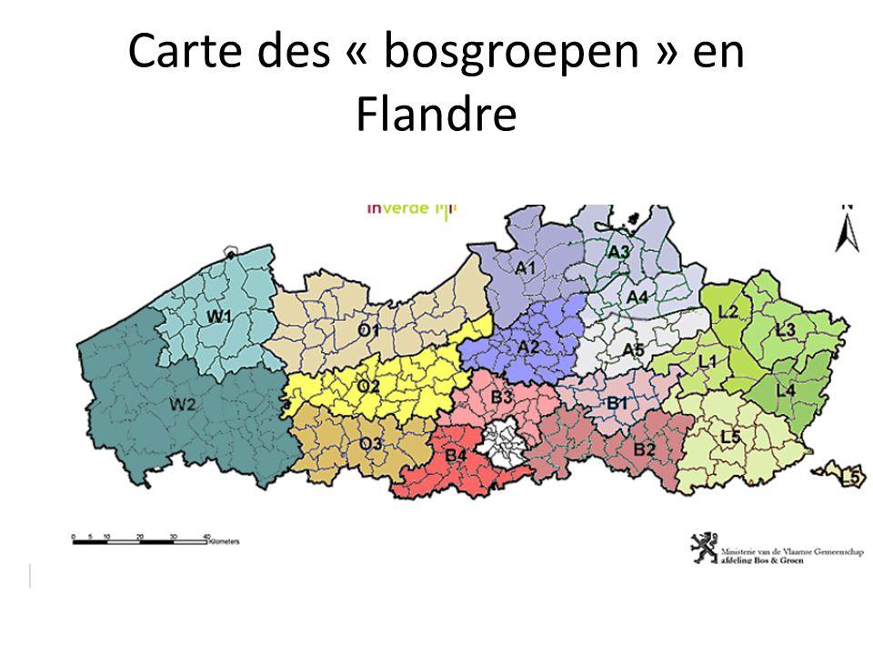 Carte des « bosgroepen » en Flandre