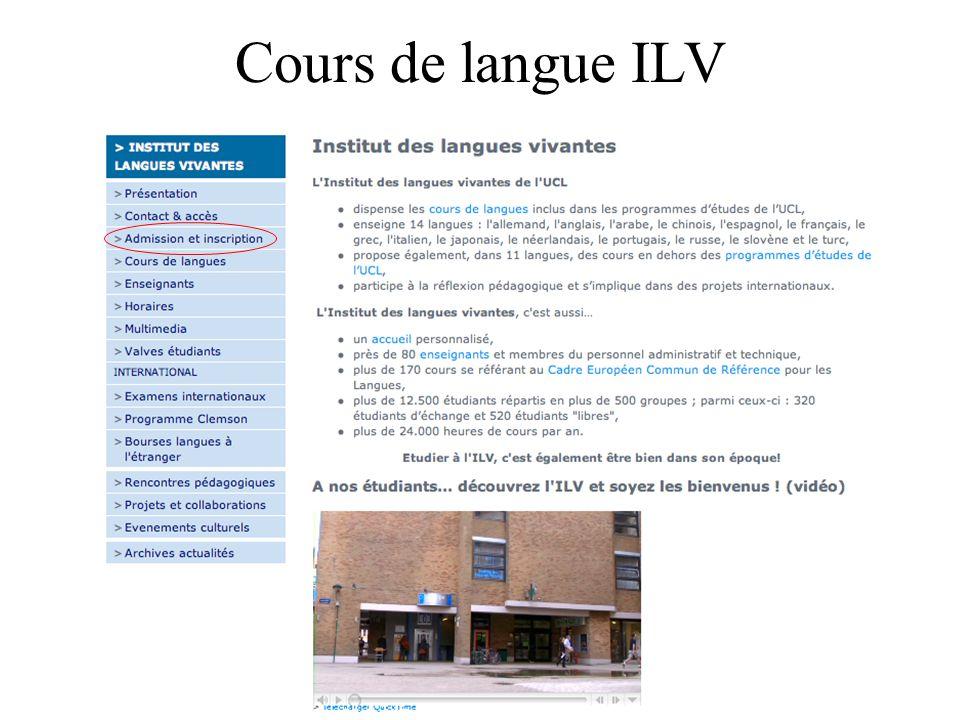 31 Cours de langue ILV