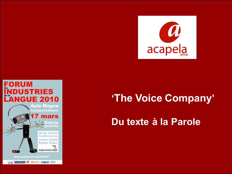 The Voice Company Du texte à la Parole