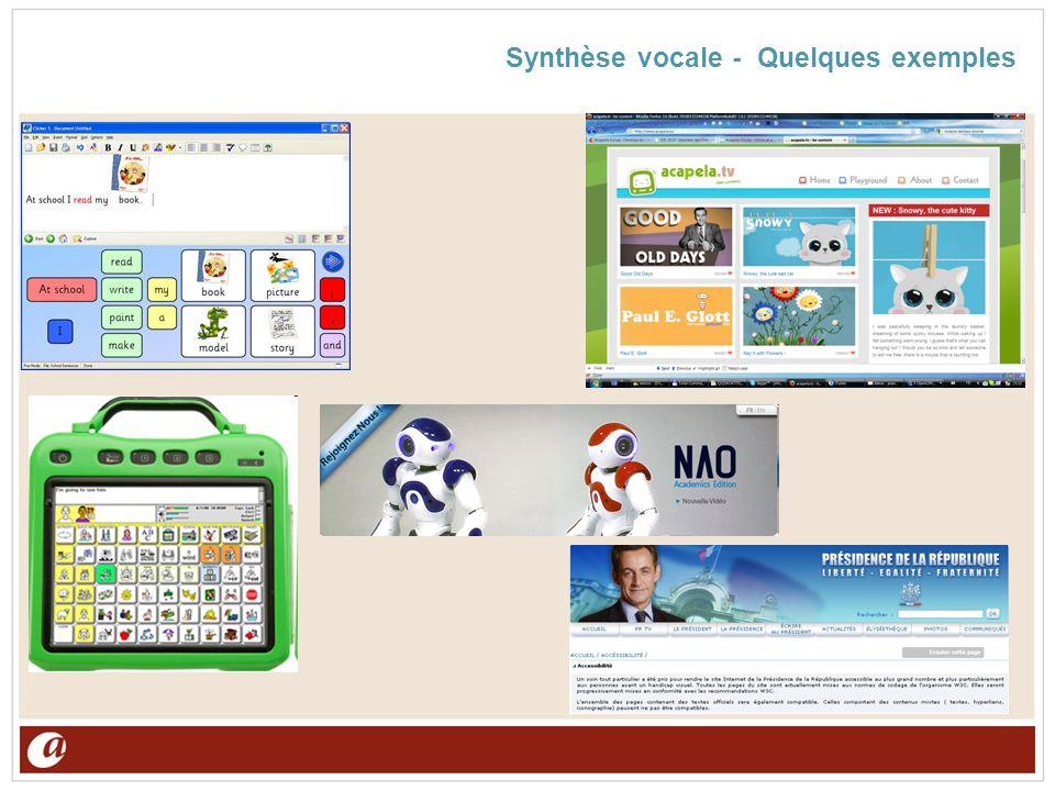 Synthèse vocale - Quelques exemples