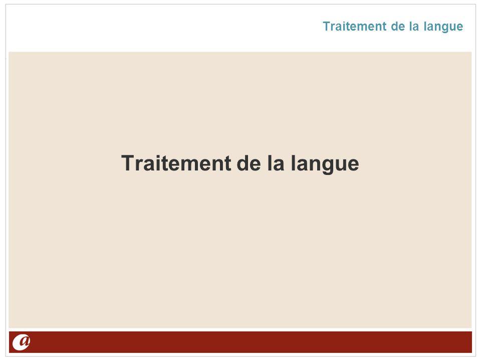 Traitement de la langue