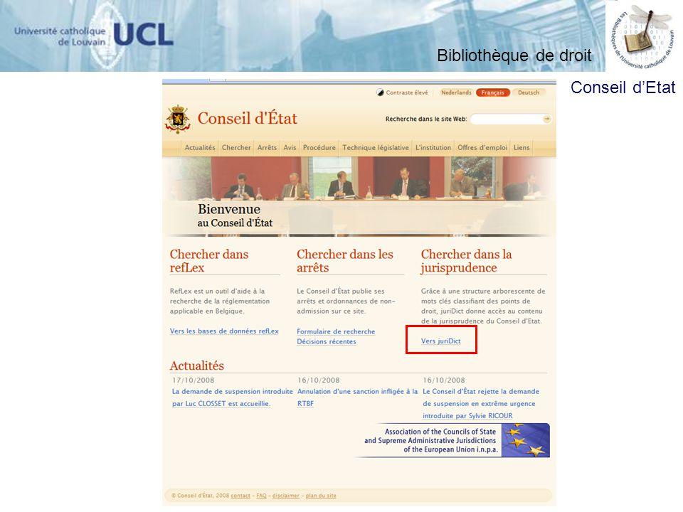 Conseil dEtat Bibliothèque de droit