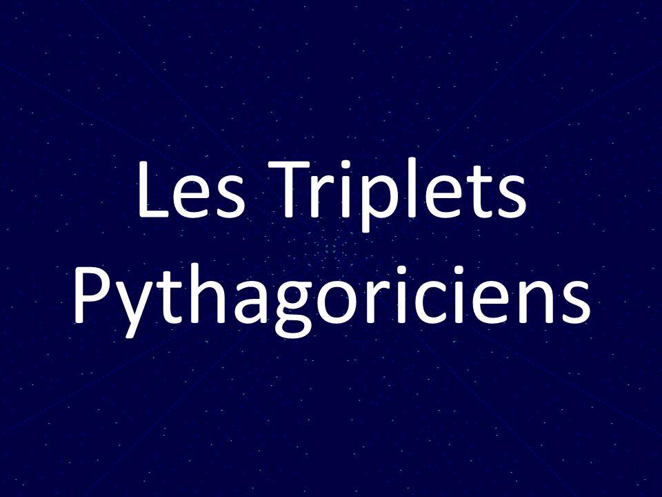 Quelle est lhistoire de formules notables permettant de générer des triplets?