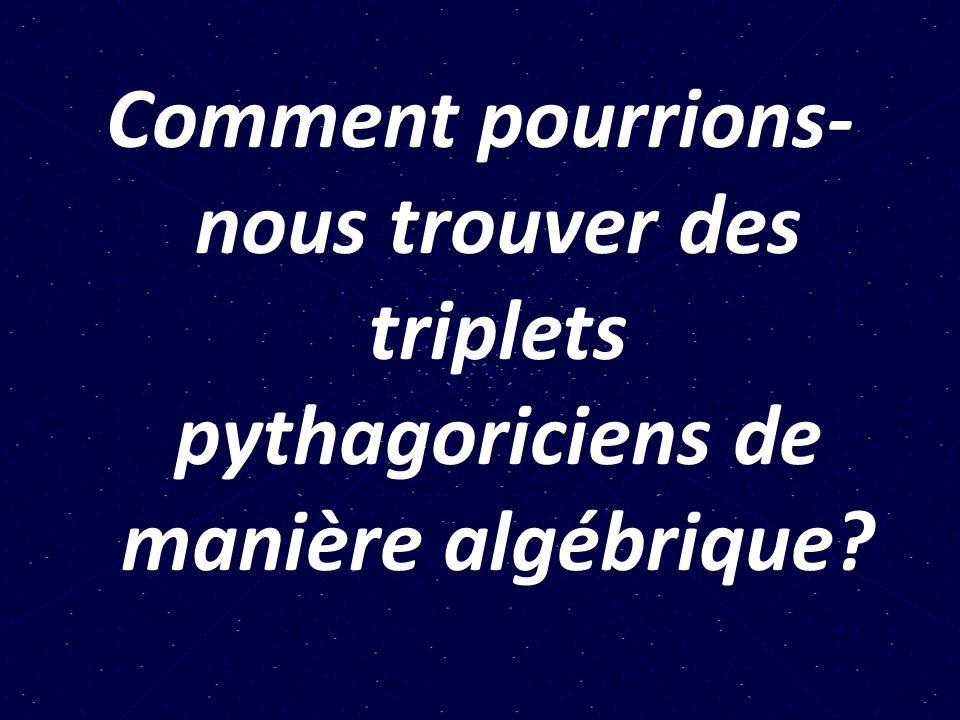 2.Approche algébrique 2.1.
