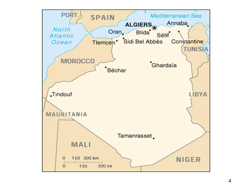 35 Potentiel solaire en Algérie Régions Région côtière Hauts Plateaux Sahara Superficie (%)41086 Durée moyenne densoleillement (Heures/an) 265030003500 Energie moyenne reçue (KWh/m2/an) 170019002650 Ce gisement solaire dépasse les 5 milliards de GWh.
