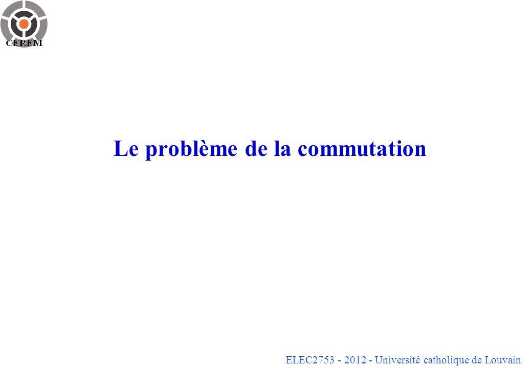 ELEC2753 - 2012 - Université catholique de Louvain Le problème de la commutation