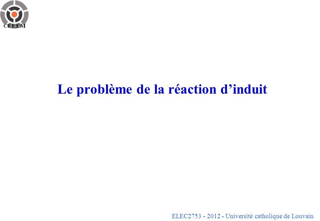 ELEC2753 - 2012 - Université catholique de Louvain Le problème de la réaction dinduit