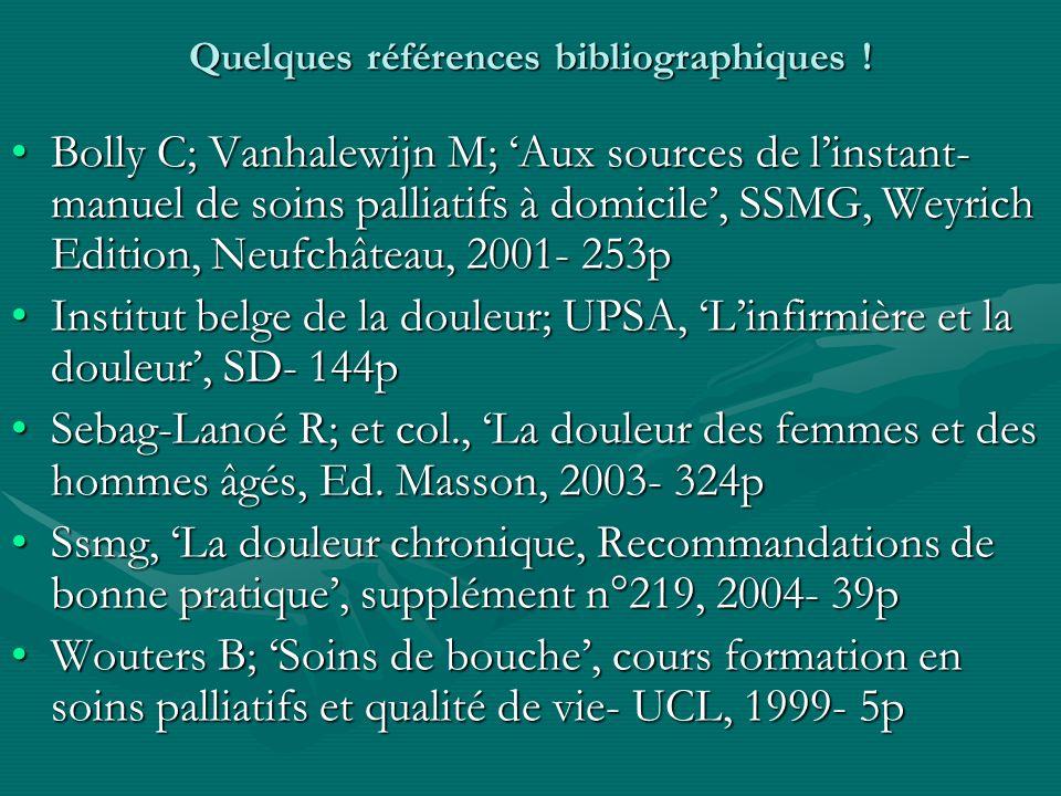 Quelques références bibliographiques .