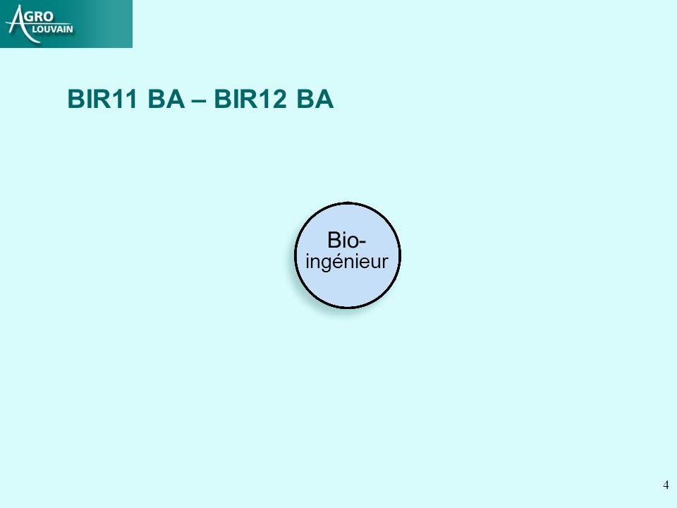 4 Bio- ingénieur BIR11 BA – BIR12 BA