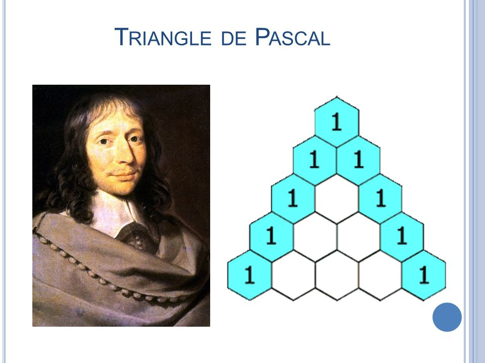 T RIANGLE DE P ASCAL