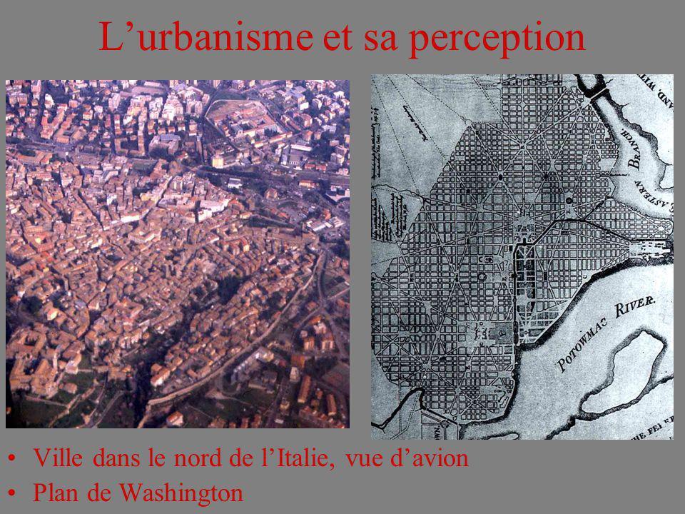 Lurbanisme et sa perception Ville dans le nord de lItalie, vue davion Plan de Washington