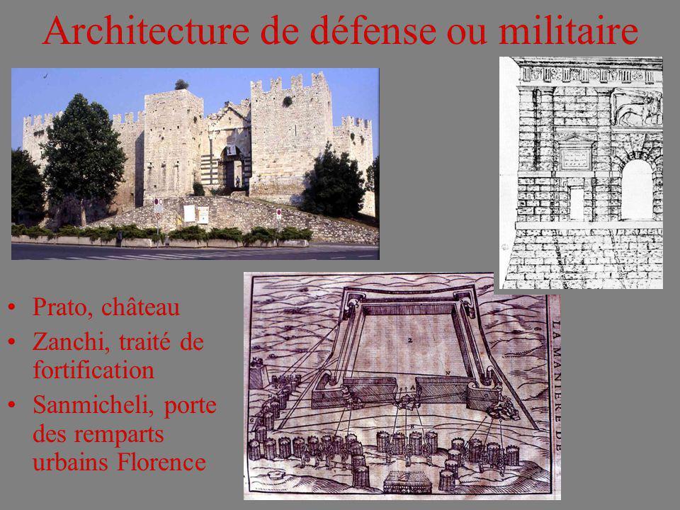 Architecture de défense ou militaire Prato, château Zanchi, traité de fortification Sanmicheli, porte des remparts urbains Florence