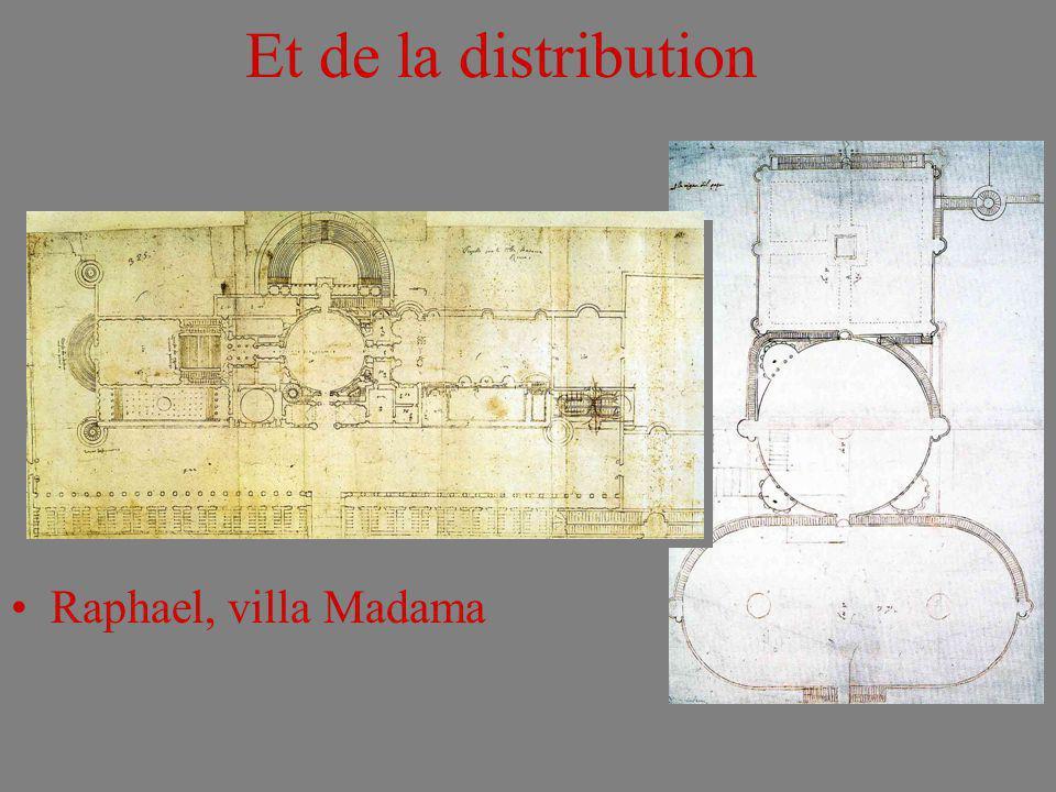 Et de la distribution Raphael, villa Madama
