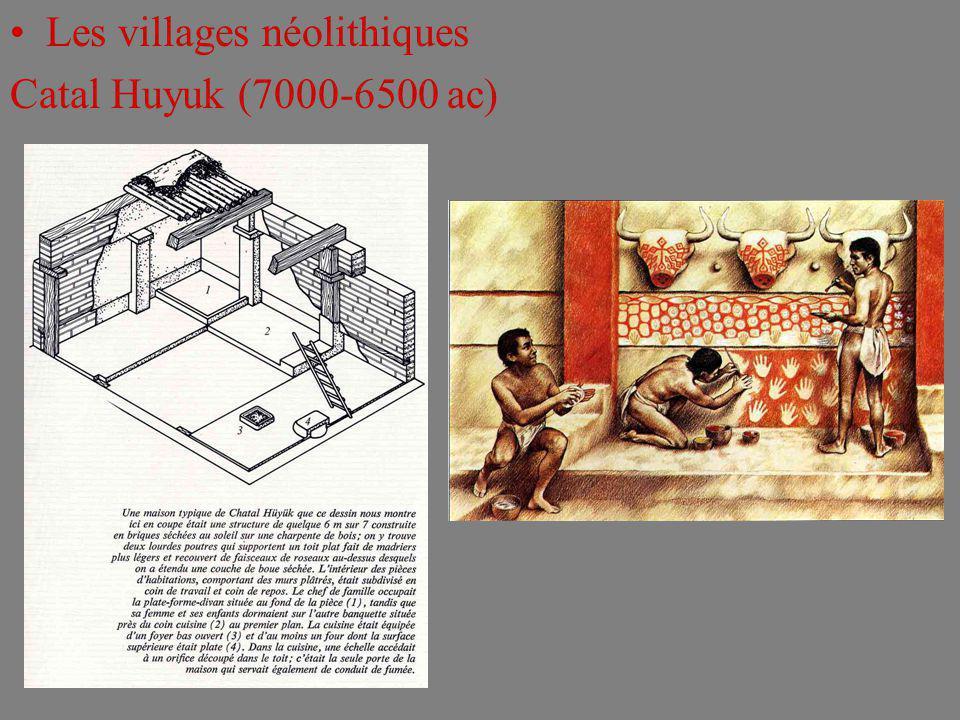 Les villages néolithiques Catal Huyuk (7000-6500 ac)