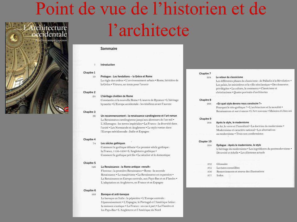 Point de vue de lhistorien et de larchitecte