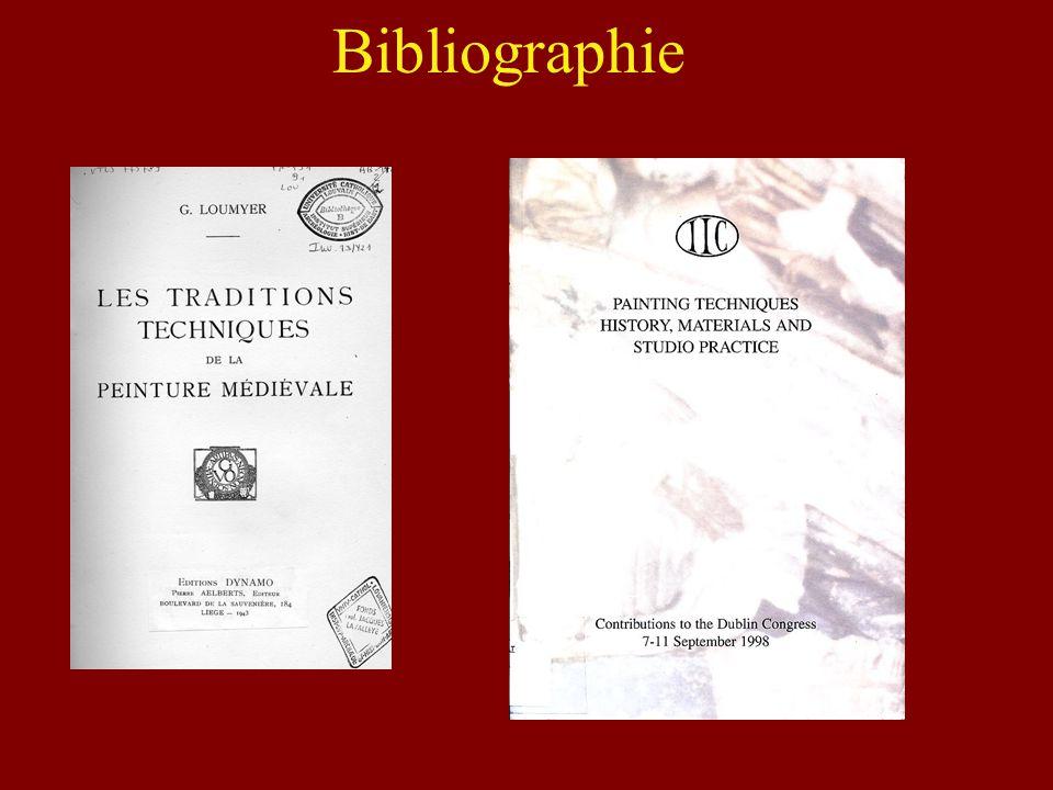 Bibliographie A. FUGA, Techniques et matériaux des arts, collection Guide des arts, Paris, Hazan, 2005.