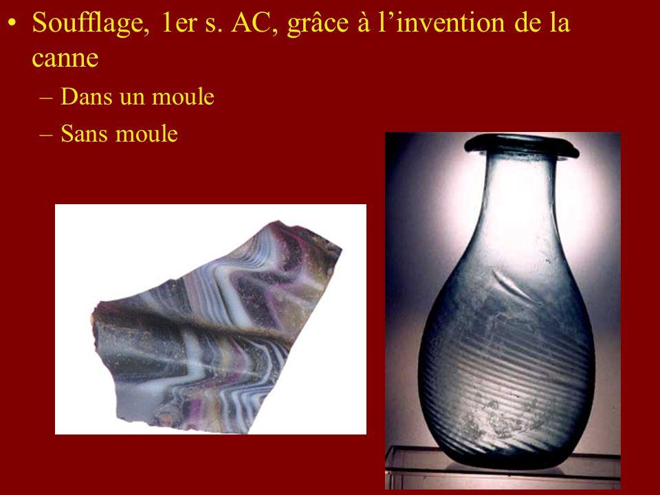 Premiers verres en Phénicie et en Égypte, 2e mill. AC