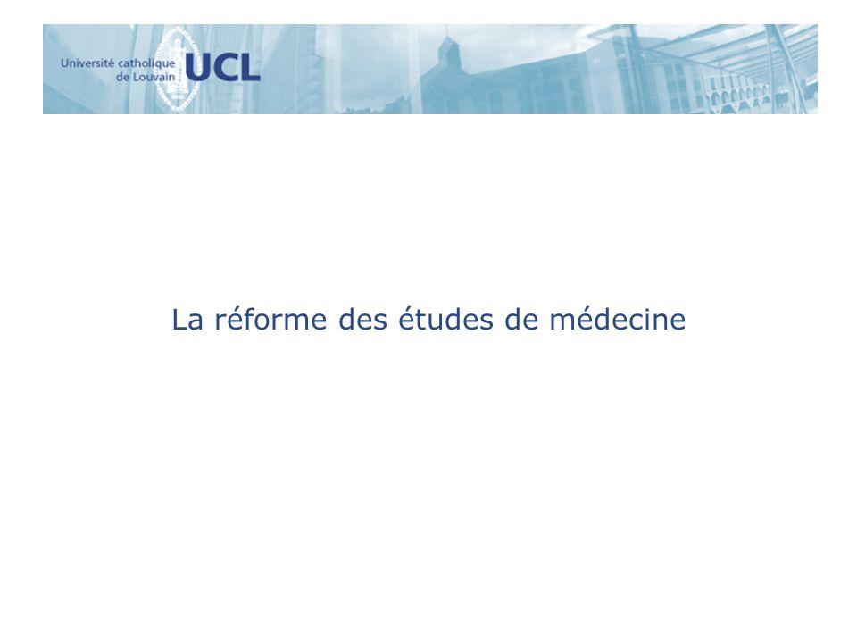 La réforme des études de médecine