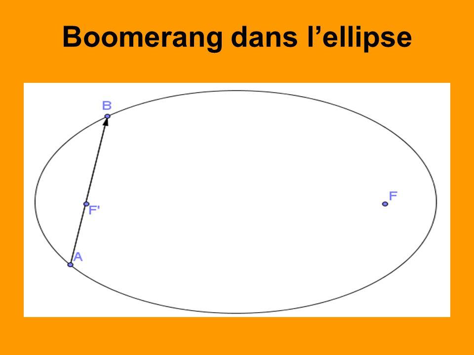 Boomerang dans lellipse