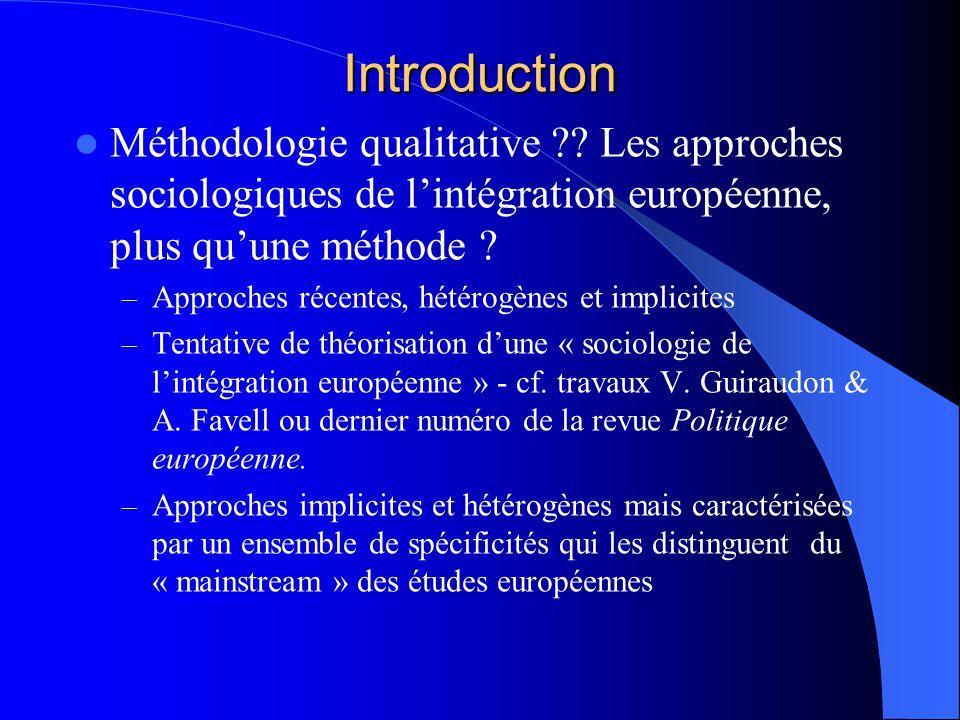 La méthodologie qualitative : son potentiel pour analyser lintégration européenne Virginie Van Ingelgom UCL – Sciences Po Paris (CEVIPOF) F.R.S.