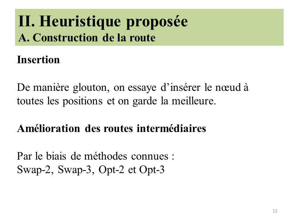 12 II.Heuristique proposée A.