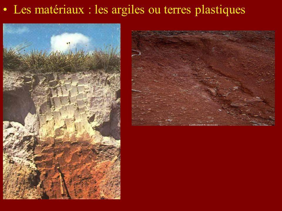 Les matériaux : les argiles ou terres plastiques