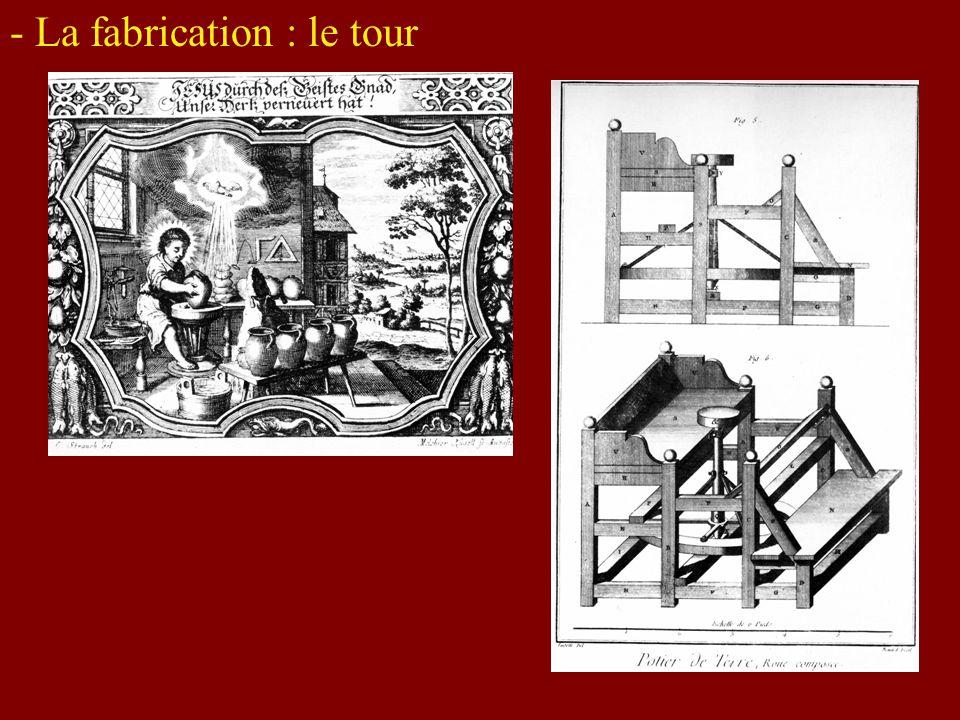 - La fabrication : le tour