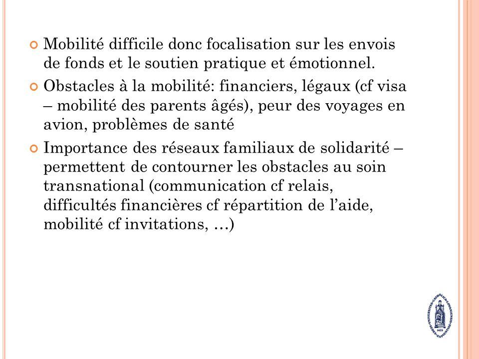 F ACTEURS INFLUANT SUR LA CAPACITE A PRENDRE SOIN Source: Merla L.