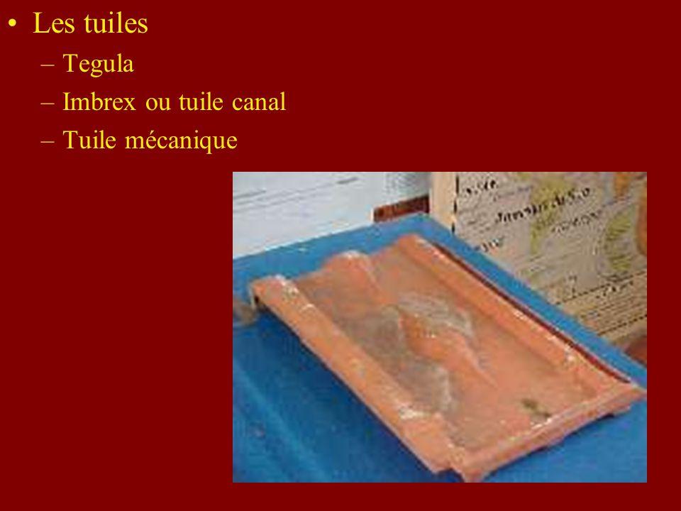 Les tuiles –Tegula –Imbrex ou tuile canal –Tuile mécanique