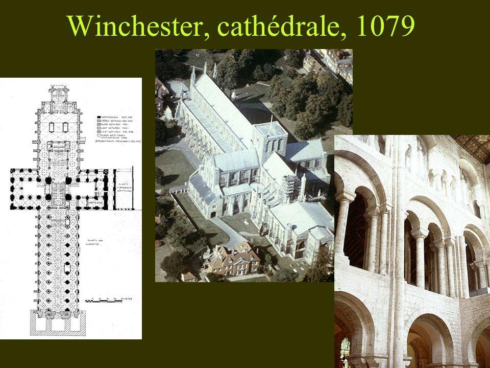 Winchester, cathédrale, 1079 PLAN RESTITUÉ