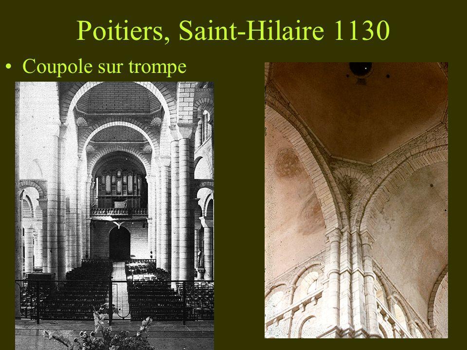 Poitiers, Saint-Hilaire 1130 Coupole sur trompe