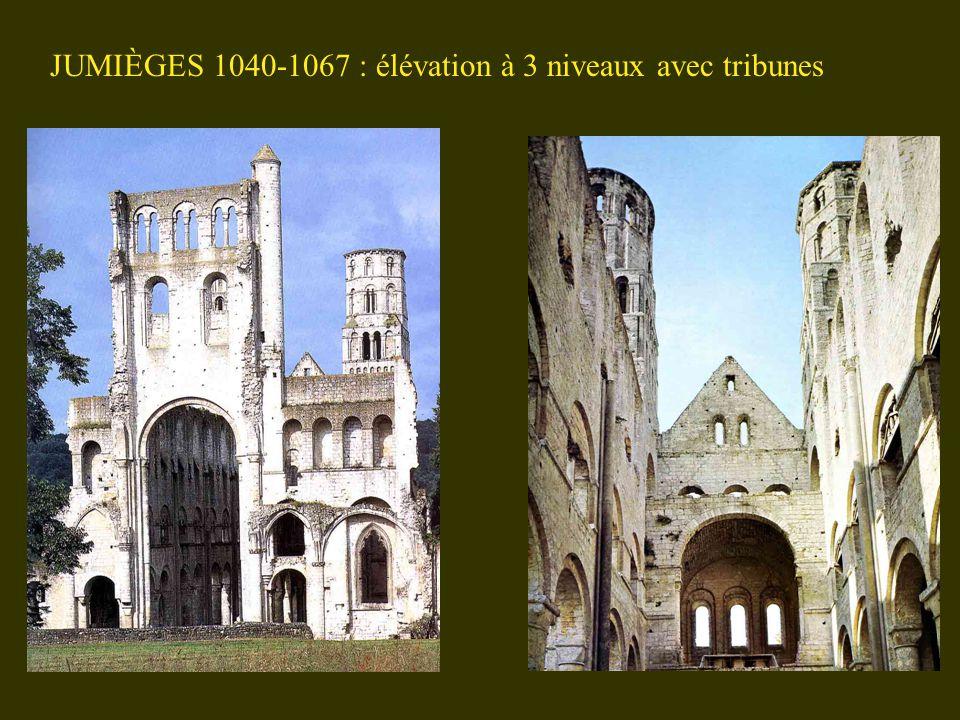 JUMIÈGES 1040-1067 : élévation à 3 niveaux avec tribunes