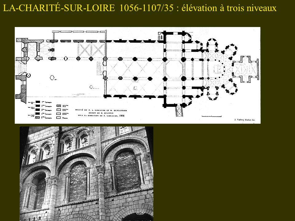 LA-CHARITÉ-SUR-LOIRE 1056-1107/35 : élévation à trois niveaux