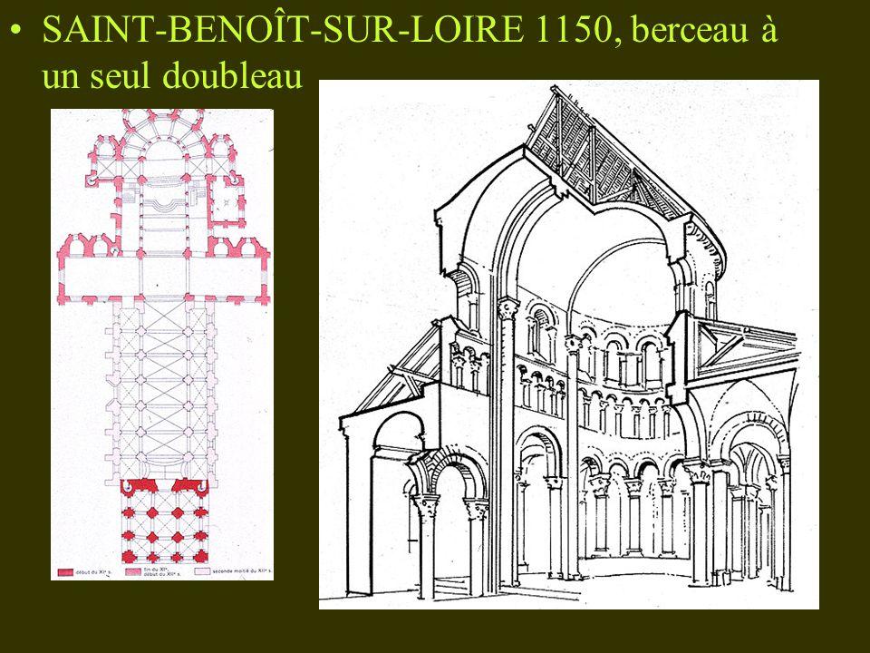 SAINT-BENOÎT-SUR-LOIRE 1150, berceau à un seul doubleau