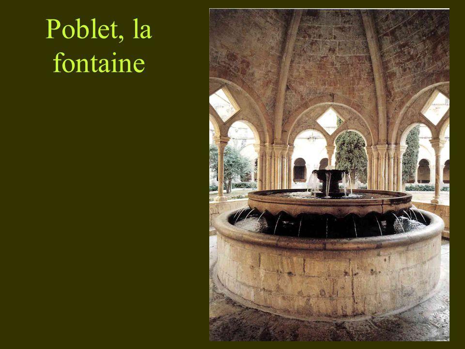 Poblet, la fontaine