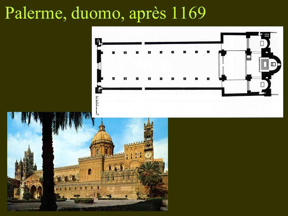 Palerme, duomo, après 1169