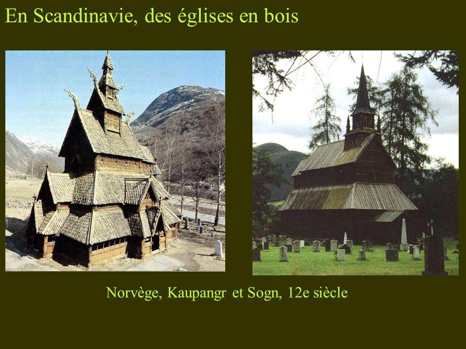 En Scandinavie, des églises en bois Norvège, Kaupangr et Sogn, 12e siècle