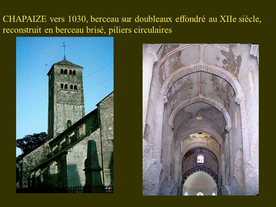 ROMAINMOTIERS 1030-1040, comme à Chapaize, mais arcades plus larges