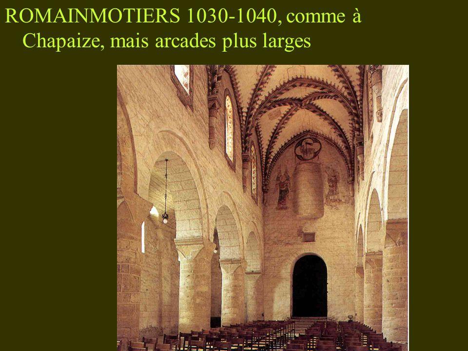 PAYERNE, 1040-1050, BERCEAU À LUNETTES, piliers cruciformes
