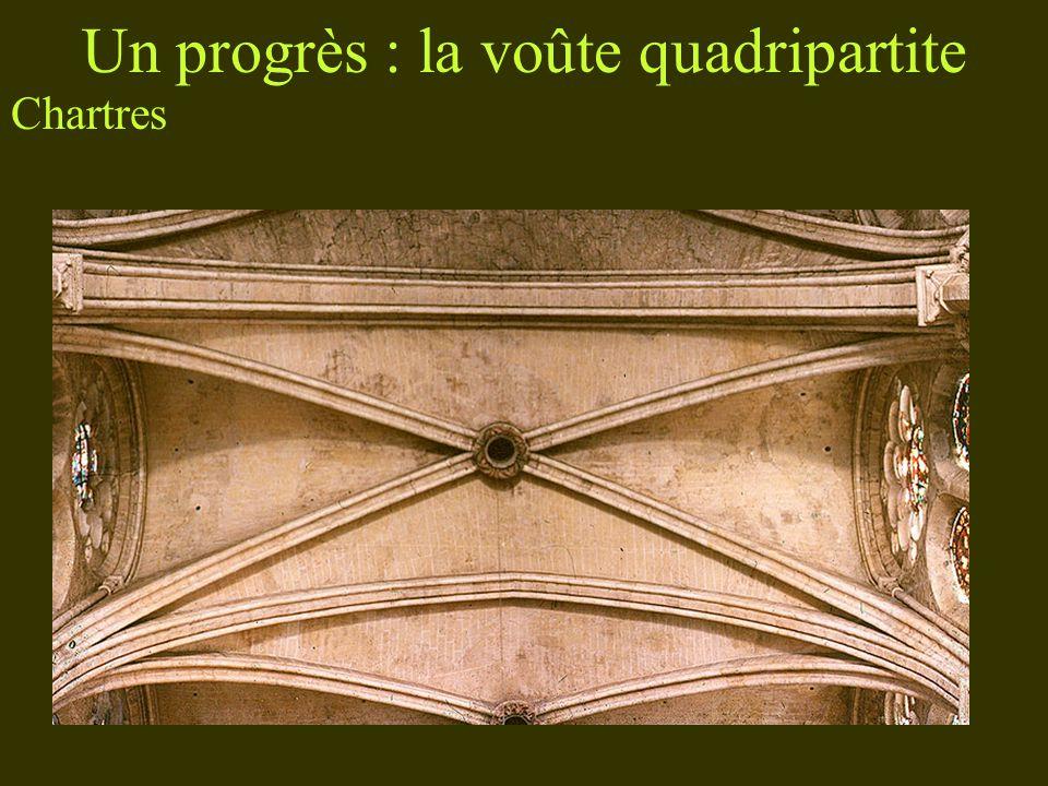 Un progrès : la voûte quadripartite Chartres