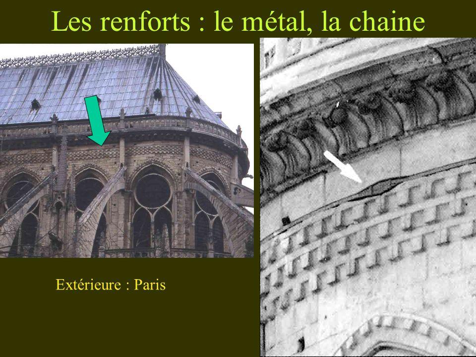 Les renforts : le métal, la chaine Paris Extérieure : Paris