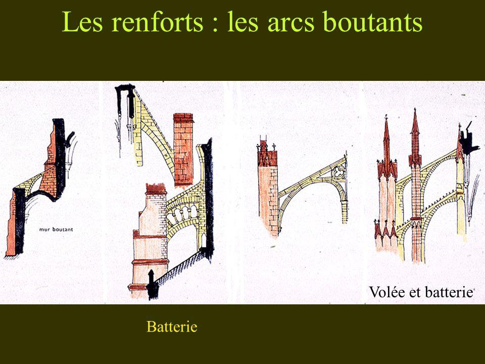 Les renforts : les arcs boutants Volée et batterie Batterie
