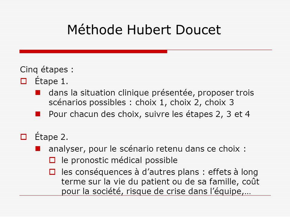 Méthode Hubert Doucet Cinq étapes : Étape 1.