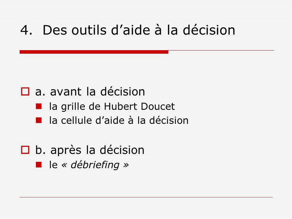 4.Des outils daide à la décision a.