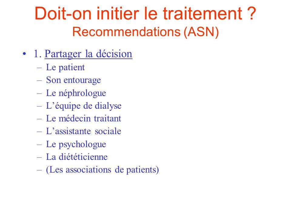 Doit-on initier le traitement .Recommendations (ASN) 2.