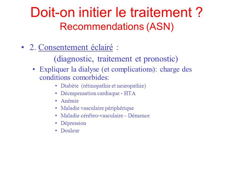 Doit-on initier le traitement .Recommendations (ASN) 3.
