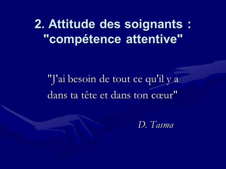 2. Attitude des soignants :