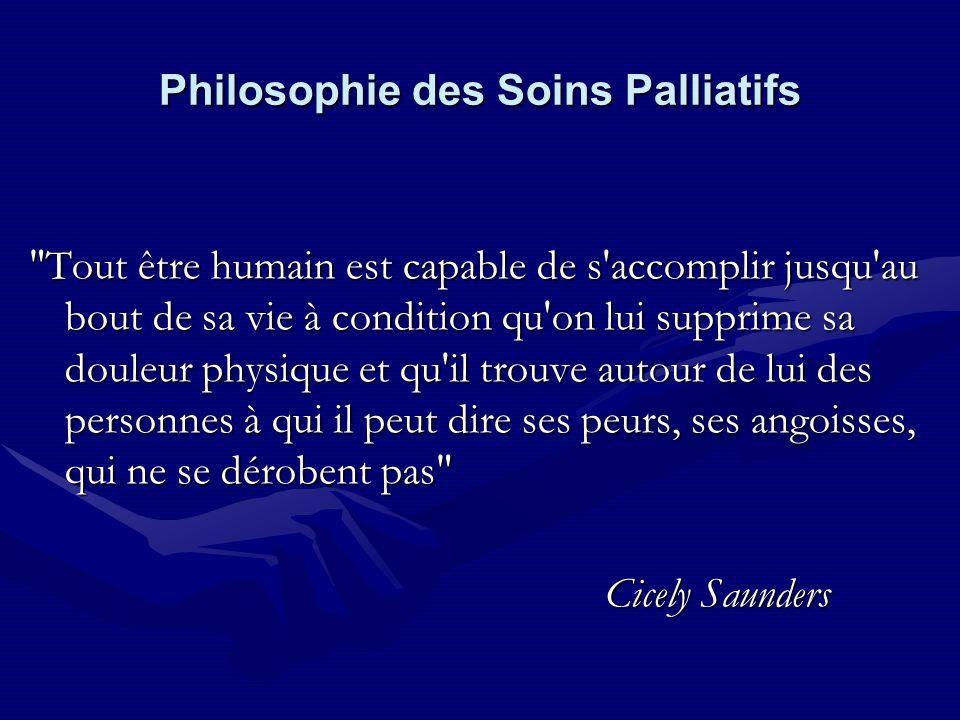 Philosophie des Soins Palliatifs