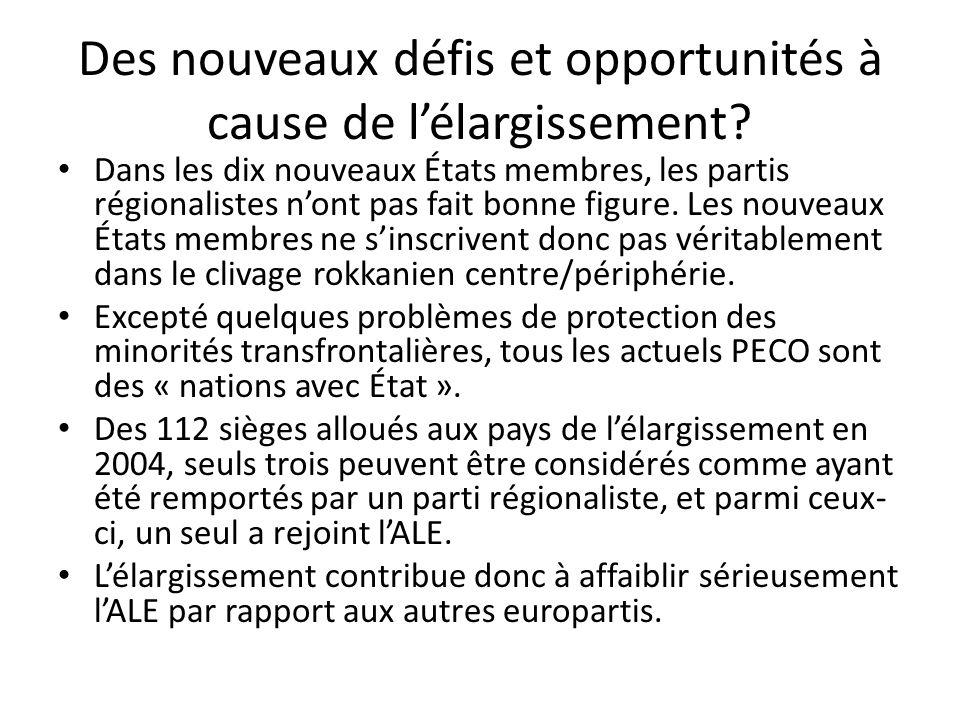 Des nouveaux défis et opportunités à cause de lélargissement.